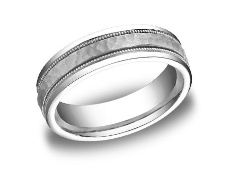 White Gold Ring - CFWB156309WG - White Gold, 6mm, Available: gold, titanium, cobalt