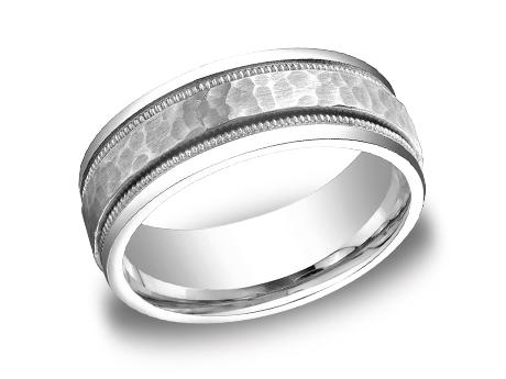 White Gold Ring - CFWB158309WG - White Gold, 8mm, Available: gold, titanium, cobalt