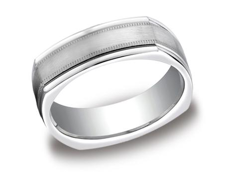 White Gold Ring - EURECF7701SWG - White Gold, 7mm, Available: gold