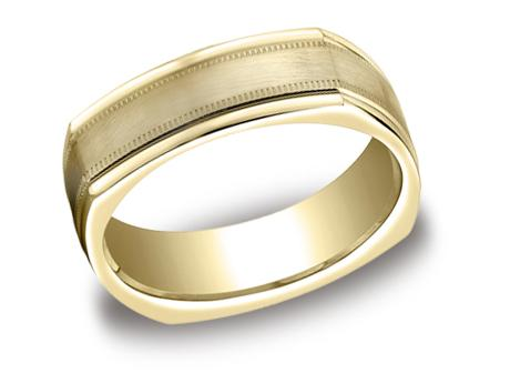 Yellow Gold Ring - EURECF7701SYG - Yellow Gold, 7mm, Available: gold