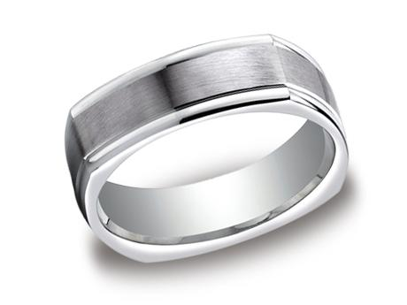 White Gold Ring - EURECF7702SWG - White Gold, 7mm, Available: gold, argentium