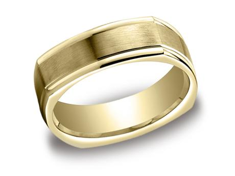 Yellow Gold Ring - EURECF7702SYG - Yellow Gold, 7mm, Available: gold, argentium