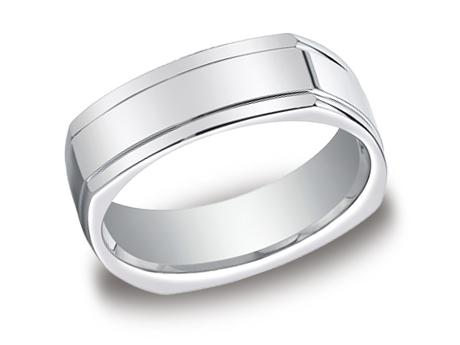 White Gold Ring - EURECF77200WG - White Gold, 7mm, Available: gold