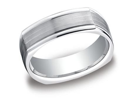 White Gold Ring - EURECF77334WG - White Gold, 7mm, Available: gold, titanium