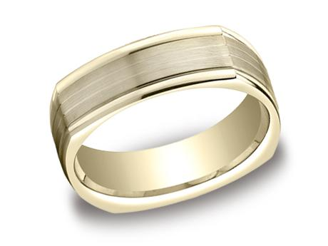 Yellow Gold Ring - EURECF77334YG - Yellow Gold, 7mm, Available: gold, titanium