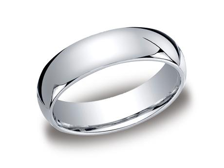 White Gold Ring - LCF160WG - White Gold, 6mm, Available: gold, plat, palladium