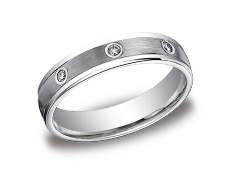 White Gold Ring - RECF514140WG - White Gold, 4mm, .16ct, Available: gold, plat, palladium