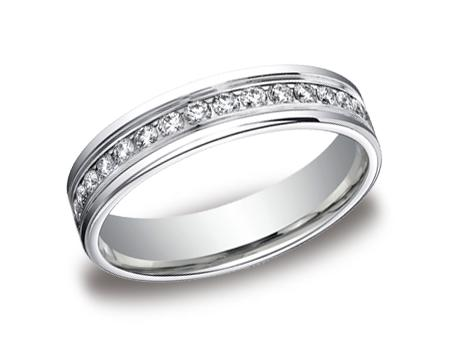 White Gold Ring - RECF514506WG - White Gold, 4mm, .66ct, Available: gold, palladium, plat