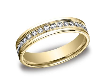 Yellow Gold Ring - RECF514506YG - Yellow Gold, 4mm, .66ct, Available: gold, palladium, plat