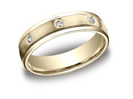 Yellow Gold Ring - RECF516140YG - Yellow Gold, 6mm, .32ct, Available: gold, plat, palladium