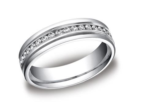 White Gold Ring - RECF516506WG - White Gold, 6mm, .78ct, Available: gold, palladium, plat