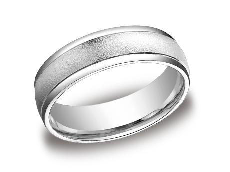 Platinum Ring - RECF7602PT - Platinum, 6mm, Available: gold, plat, palladium
