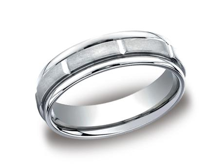 Platinum Ring - RECF76452PT - Platinum, 6mm, Available: gold, plat, palladium, cobalt, titanium, black titanium