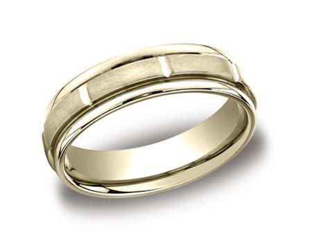 Yellow Gold Ring - RECF76452YG - Yellow Gold, 6mm, Available: gold, plat, palladium, cobalt, titanium, black titanium