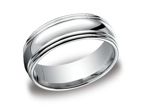 White Gold Ring - RECF87501WG - White Gold, 7.5mm, Available: gold