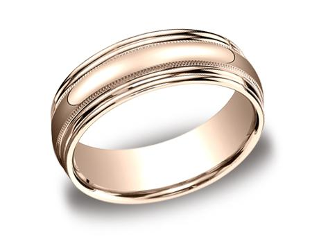 Rose Gold Ring - RECF87502RG - Rose Gold, 7.5mm, Available: gold
