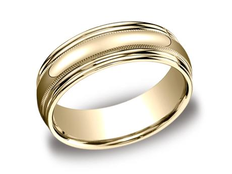 Yellow Gold Ring - RECF87502YG - Yellow Gold, 7.5mm, Available: gold
