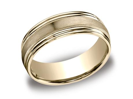Yellow Gold Ring - RECF87504YG - Yellow Gold, 7.5mm, Available: gold