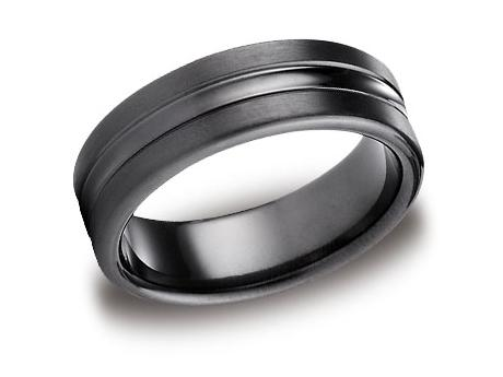 Black Titanium Ring - CF717505BKT - Black Titanium, 7.5mm, Available: gold, palladium, plat, black titanium
