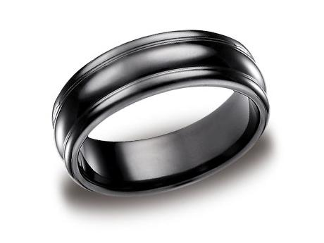 Black Titanium Ring - CF717554BKT - Black Titanium, 7.5mm, Available: black titanium