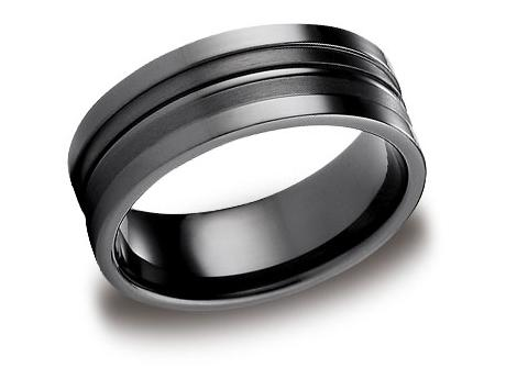 Black Titanium Ring - CFSE58180BKT - Black Titanium, 8mm, Available: gold, argentium, black titanium