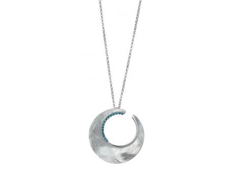 FREDERIC DUCLOS Sterling Silver Eclipse Necklace with Blue Topaz - Sterling Silver Eclipse Necklace with Blue Topaz. 2014 JCK First Place Award Winner!