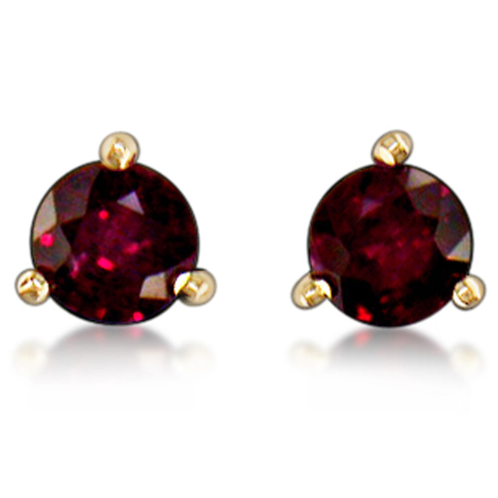 14K Yellow Gold Ruby Earrings - 14K Yellow Gold Ruby Earrings