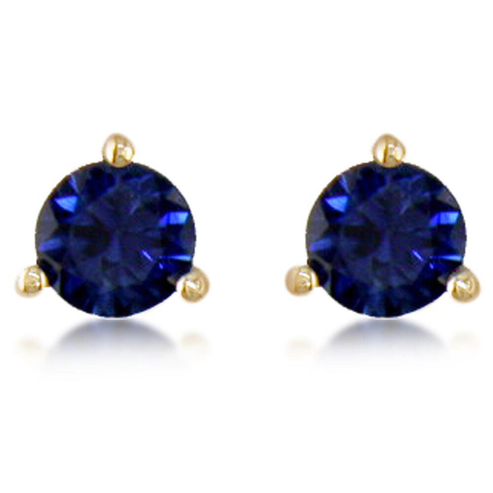 14K White Gold Sapphire Earrings - 14K White Gold Sapphire Earrings
