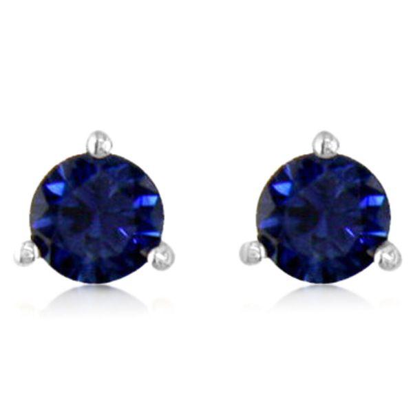 14K White Gold Sapphire Earrings - 14K White Gold Sapphire Earrings