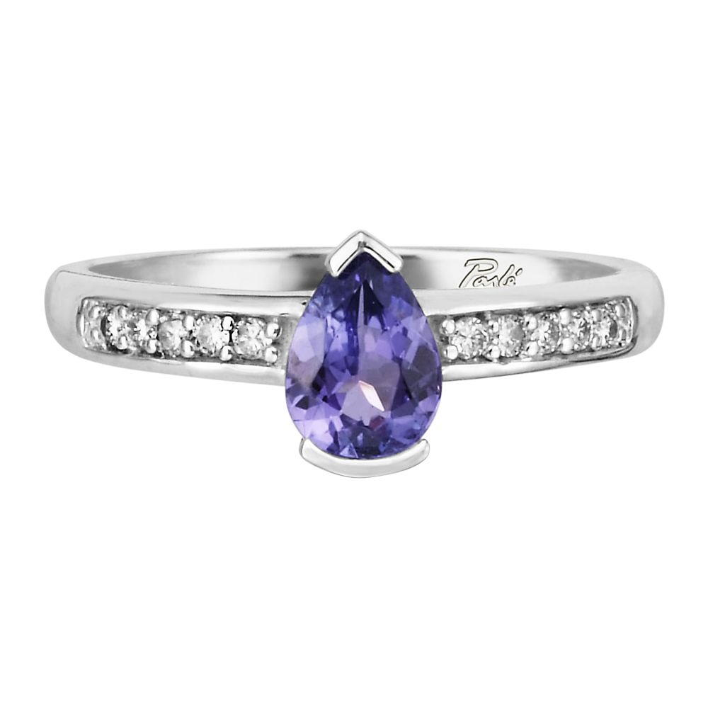 14K White Gold Tanzanite/Diamond Ring - 14K White Gold Tanzanite/Diamond Ring
