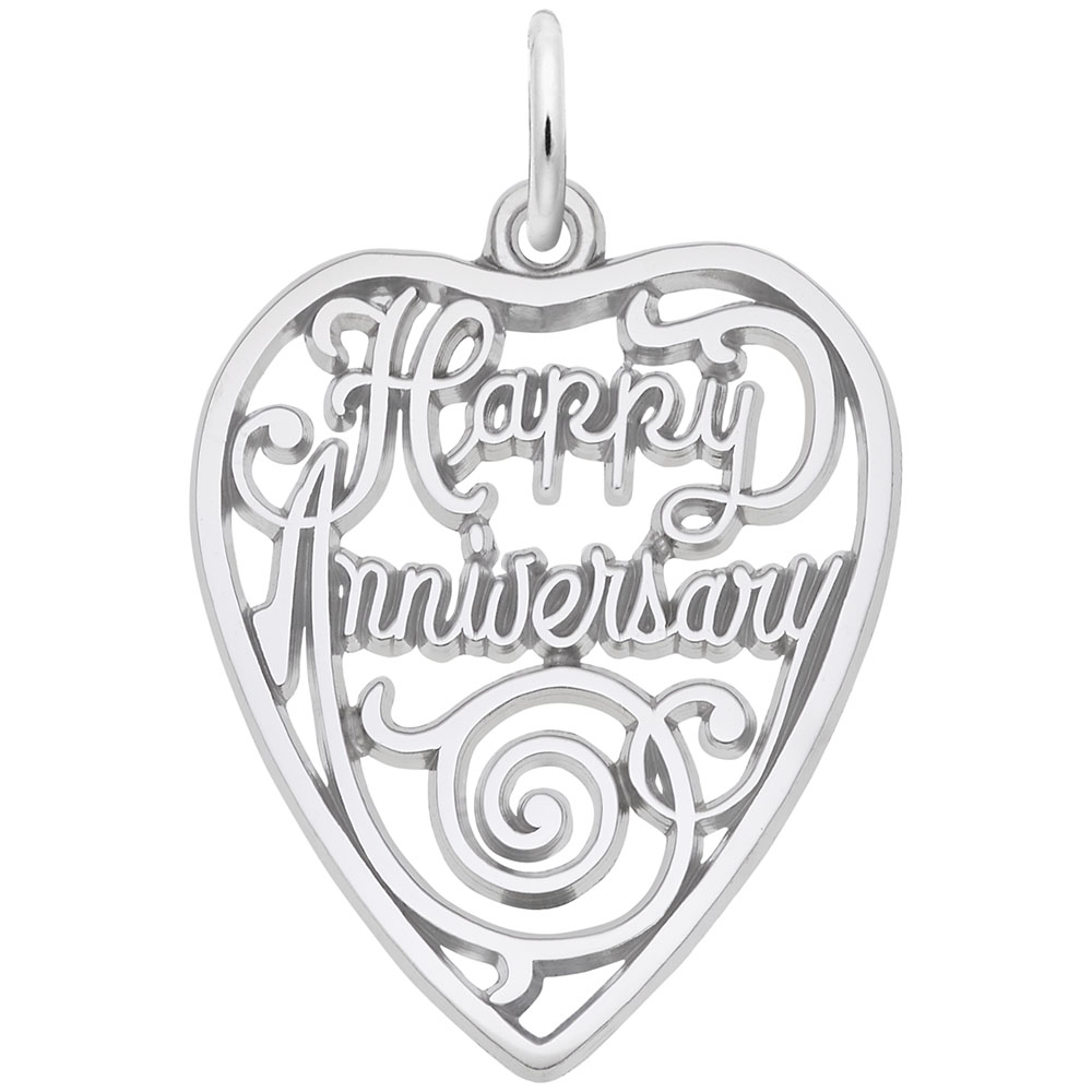 Anniversary - Anniversary  Love & Hearts  Charm.material:  Sterling Silver
