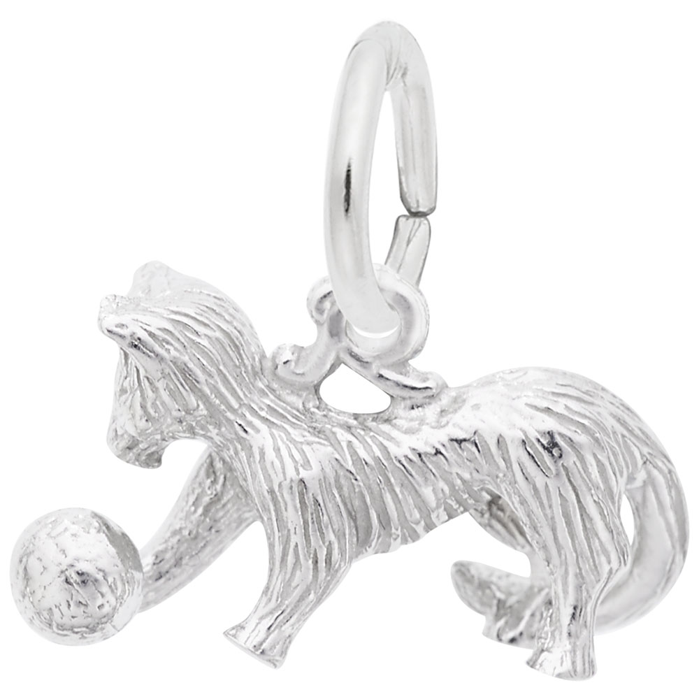 Cat - Cat  Animals  Charm.material:  Sterling Silver