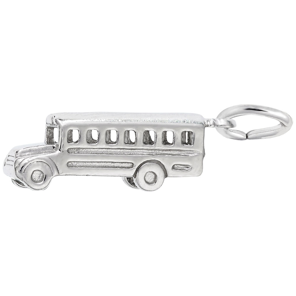 School Bus - School Bus  Professions  Charm.material:  Sterling Silver