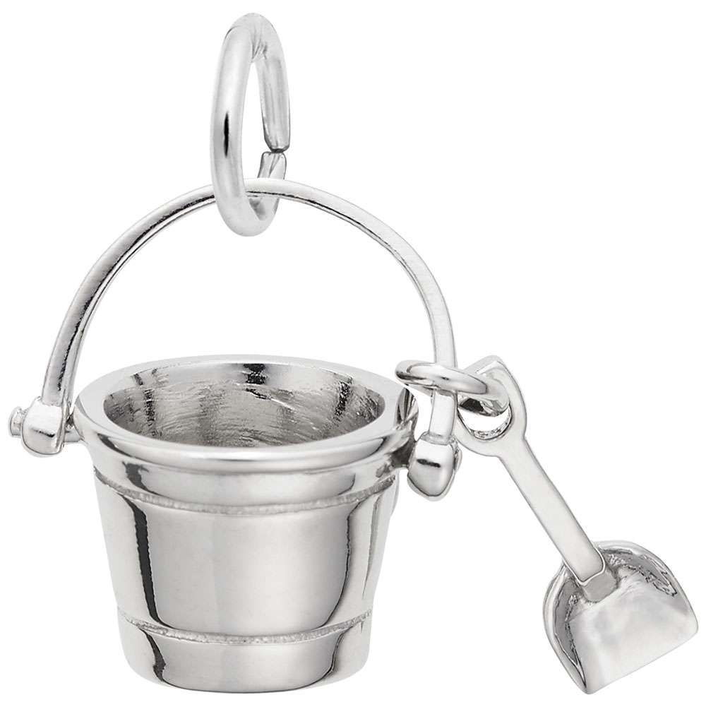 Pail And Shovel - Pail And Shovel  Home & Garden  Charm.material:  Sterling Silver