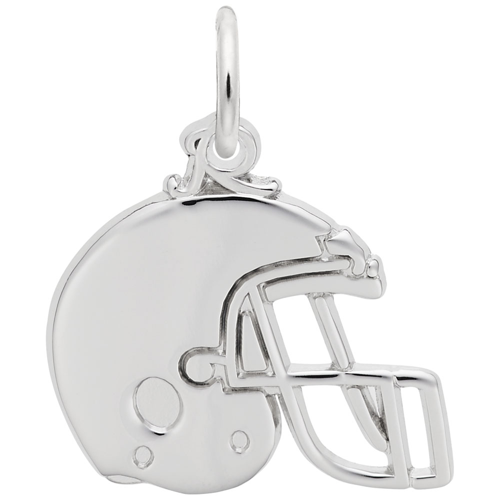 Football Helmet - Football Helmet  Sports  Charm.material:  Sterling Silver
