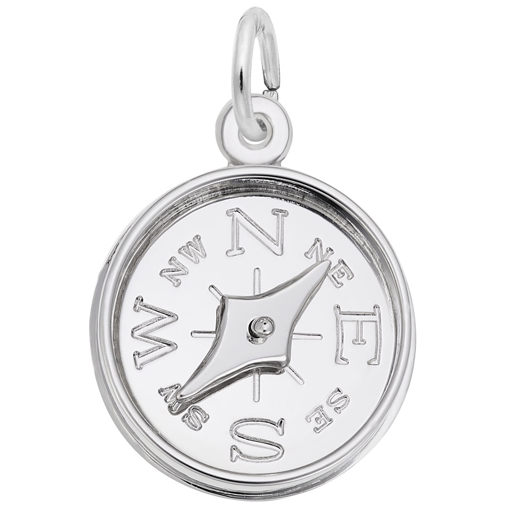 Compass - Compass  Symbols & Sayings  Charm.material:  Sterling Silver