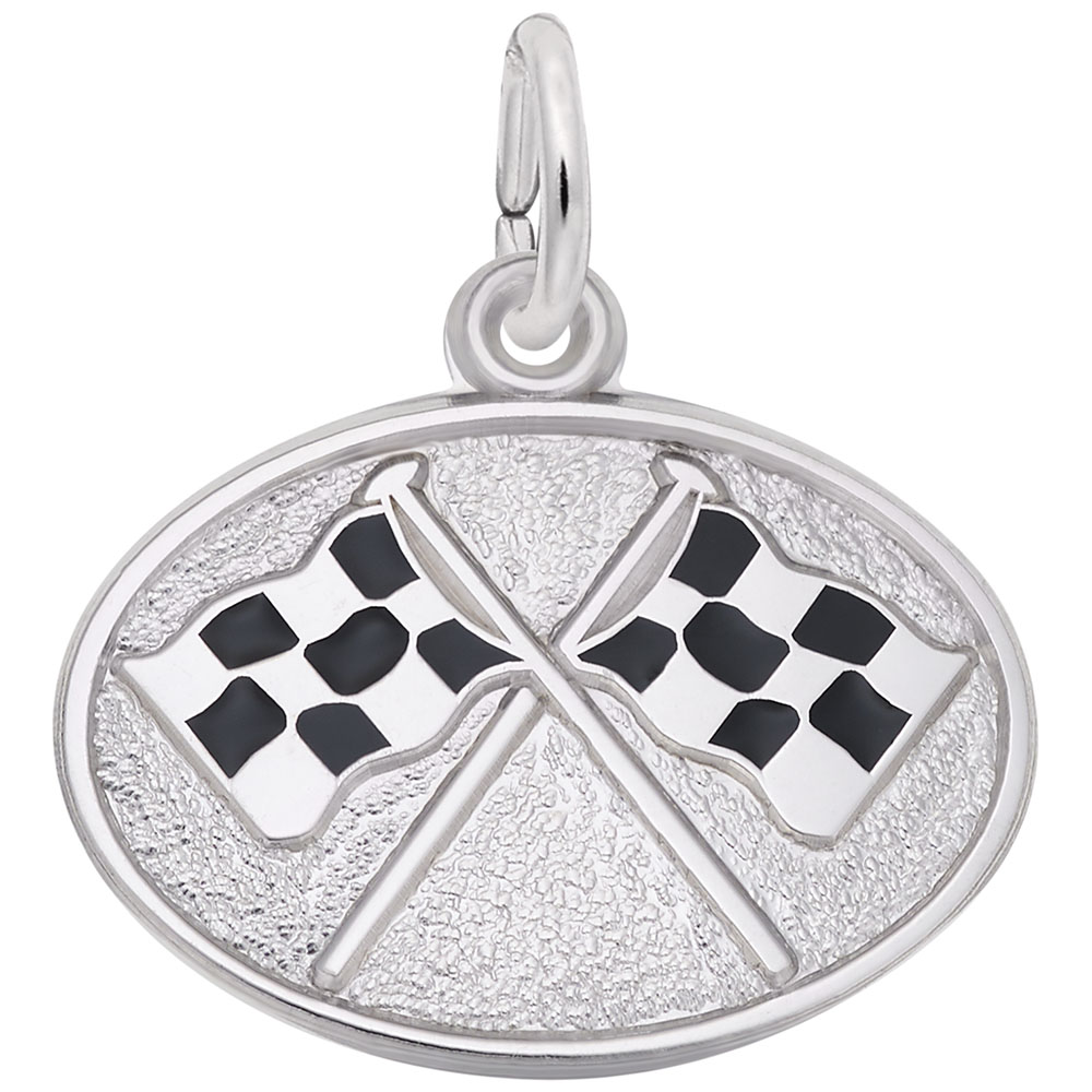 Flags Crossed - Flags Crossed  Hobbies & Accomplishments  Charm.material:  Sterling Silver