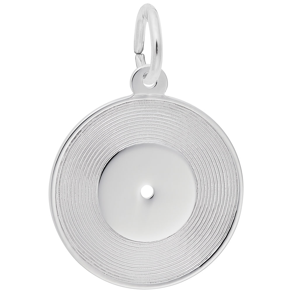 Record - Record  Hobbies & Accomplishments  Charm.material:  Sterling Silver