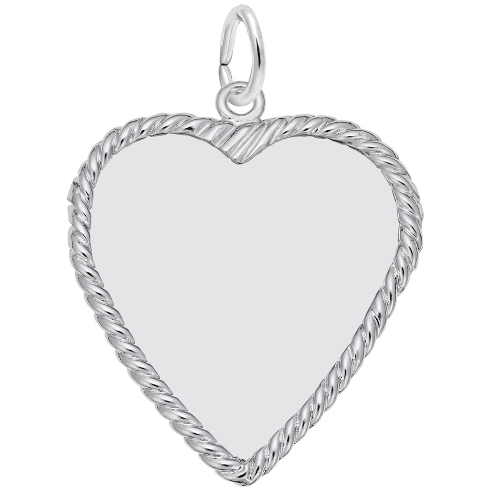Heart Disc - Heart Disc  Engravables  Charm.material:  Sterling Silver