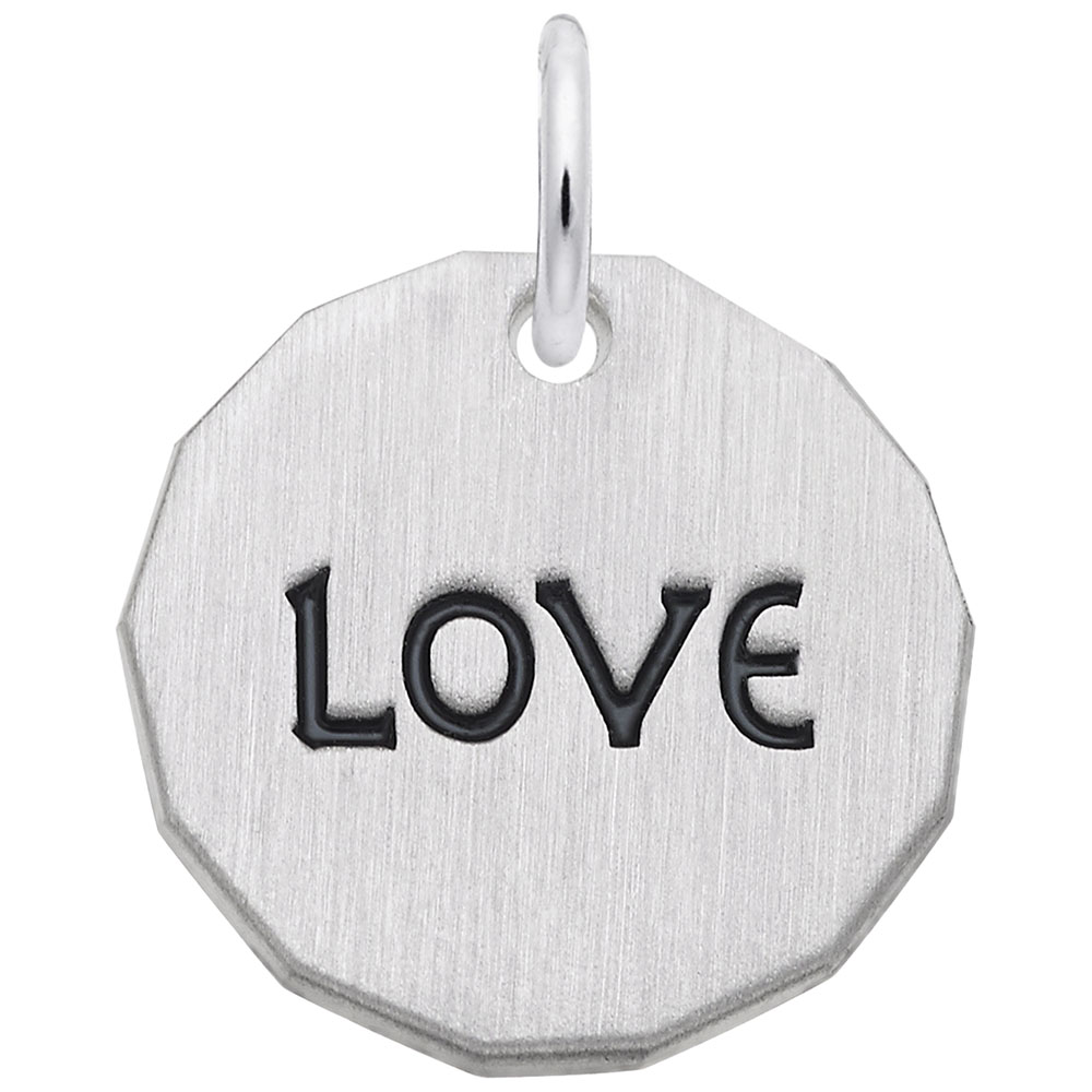 Love Charm Tag - Love Charm Tag  Love & Hearts  Charm.material:  Sterling Silver