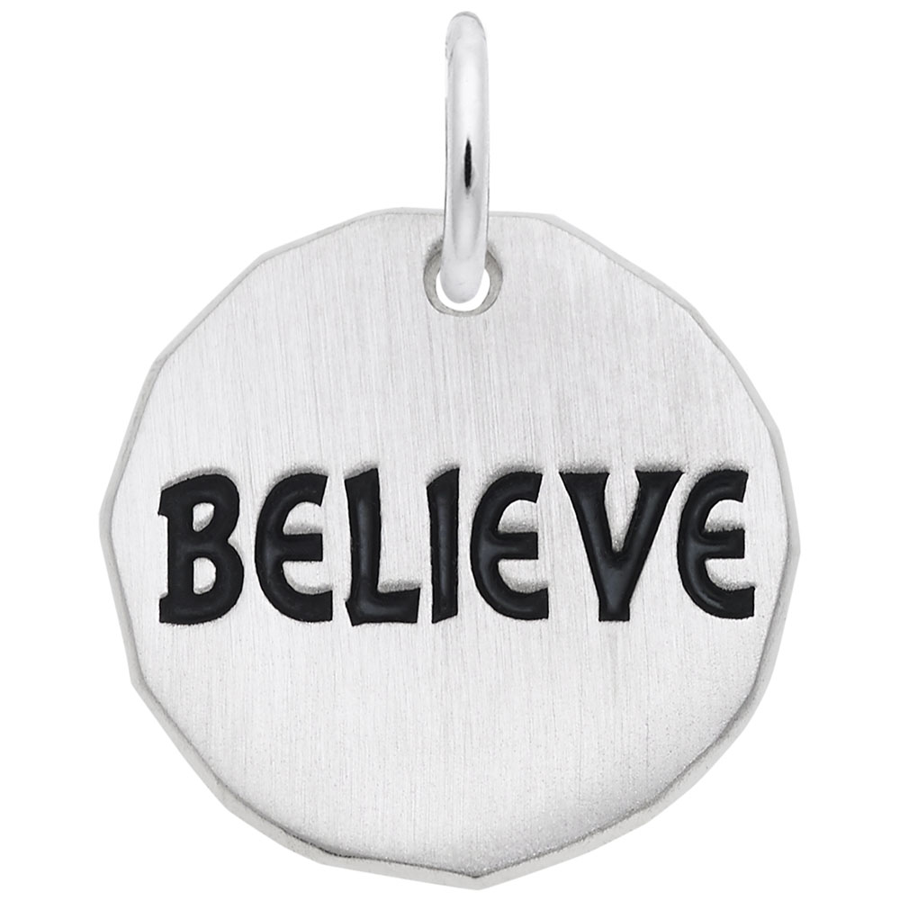 Believe Charm Tag - Believe Charm Tag  Symbols & Sayings  Charm.material:  Sterling Silver