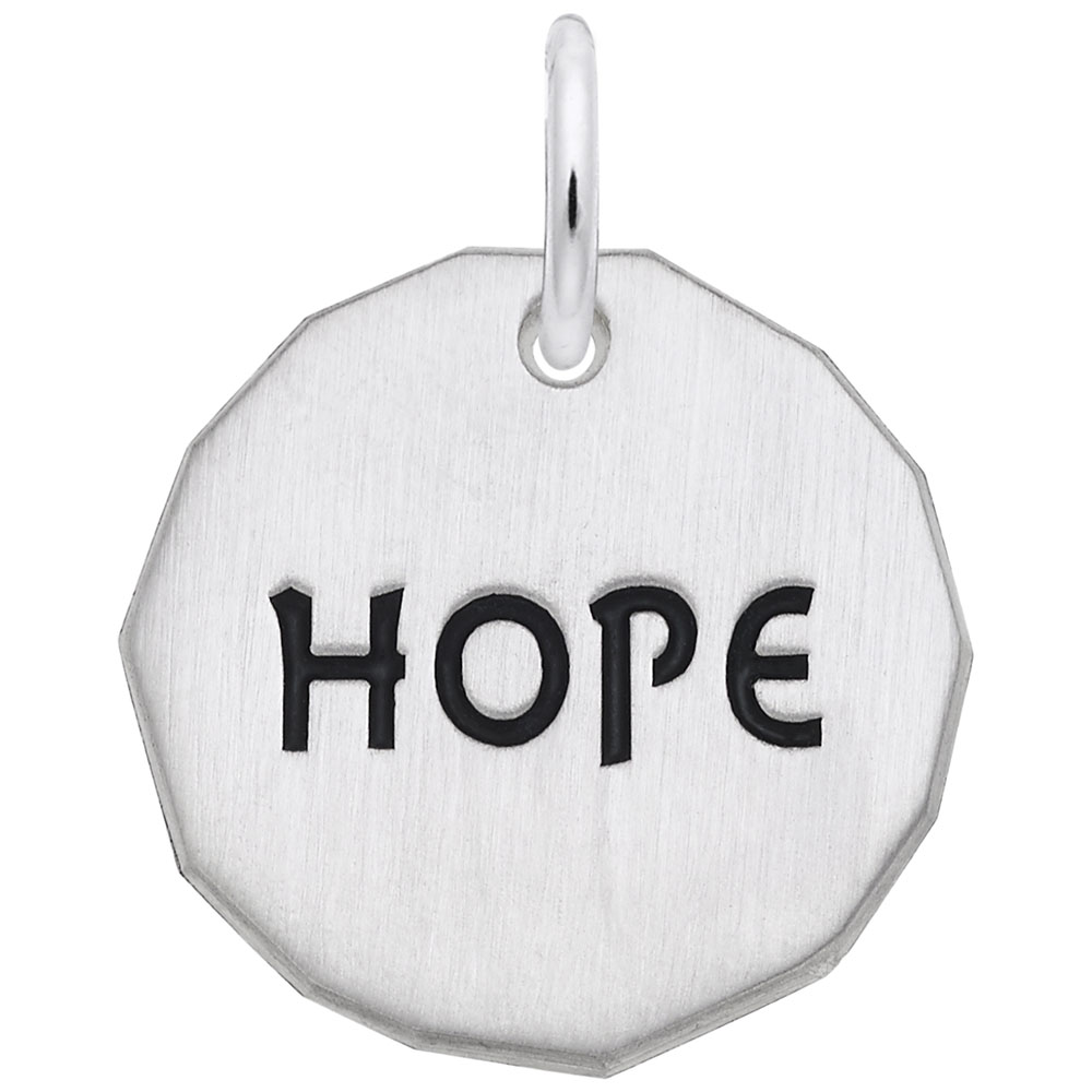 Hope Charm Tag - Hope Charm Tag  Symbols & Sayings  Charm.material:  Sterling Silver