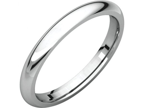 Comfort-Fit Bands - Sterling Silver 12mm Comfort-Fit Band