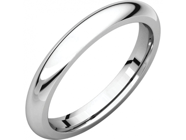 Comfort-Fit Bands - Sterling Silver 3mm Comfort-Fit Band