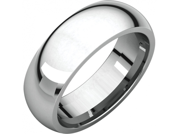 Comfort-Fit Bands - 14K X1 White 6mm Comfort-Fit Band